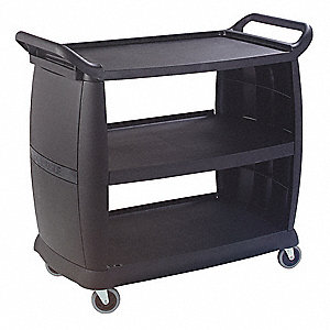 Large Bussing and Transport Cart,Black