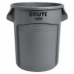 RECEPTACLE WASTE ROUND GRY 20GAL