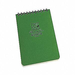 NOTEBOOK POCKET GREEN 4X6