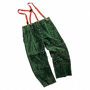 PANTS WELDING LEATHER GREEN