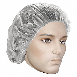 HAIRNET WH 24IN MESH 100/BG