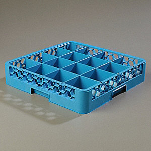 Glass Rack,16 Compartment,PK6