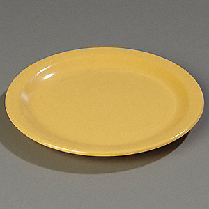 Dinner Plate,9 In,Yellow,PK48
