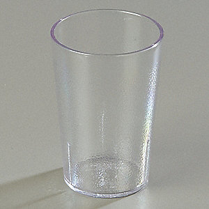 Tumbler,Stackable,9-1/2 oz.,Clear,PK72