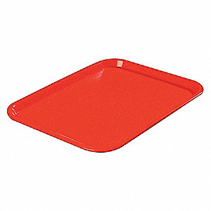 CAFE TRAY,14 X 18,RED,PK 12