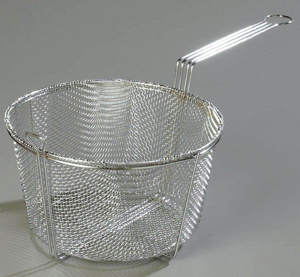Carlisle 9 75 In X 4 75 In X 5 In Chrome Plated Nickel Steel Mesh Fryer Basket 14d425 601001 Grainger