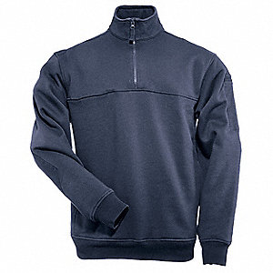 Job Shirt 1/4 Zip,Fire Navy,2XL