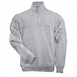 Job Shirt 1/4 Zip,Heather Grey,2XL