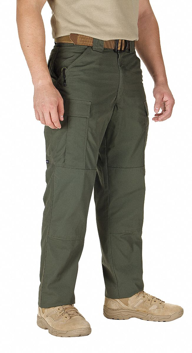 Ripstop TDU Pants. Size: M, Fits Waist Size: 31-1/2 in to 35 in, Inseam: Regular, TDU Green