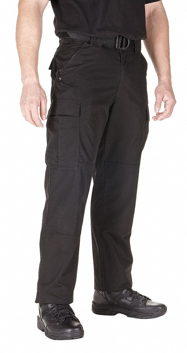 Ripstop TDU Pants. Size: M, Fits Waist Size: 31-1/2 in to 35 in, Inseam: Regular, Black