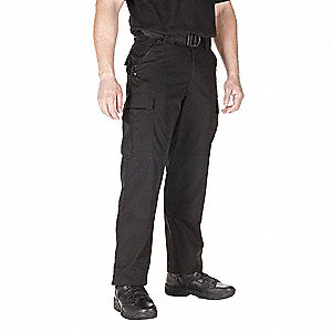 "Ripstop TDU Pants. Size: S, Fits Waist Size: 27-1/2"" to 31"", Inseam: Long, Black"