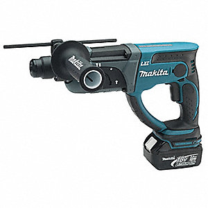 Cordless Rotary Hammer Kit, 18.0 Voltage, 0 to 4000 Blows per Minute, Battery Included
