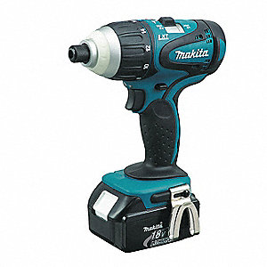 "1/4"" Hex Cordless Impact Driver Kit, 18.0 Voltage, 1240 In.-lb. Max. Torque, Battery Included"