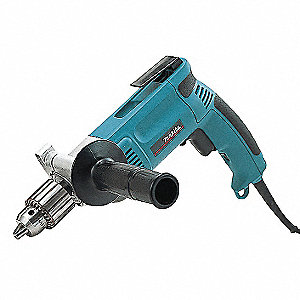 "1/2"" Electric Drill, 7.0 Amps, Pistol Grip Handle Style, 0 to 600 No Load RPM, 120VAC"