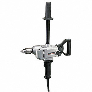 "1/2"" Electric Drill, 9.0 Amps, Spade Handle Style, 500 No Load RPM, 120VAC"