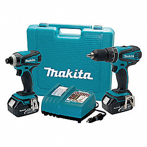 Cordless Combo Kit,18.0 V,2 Tools,2 Bat