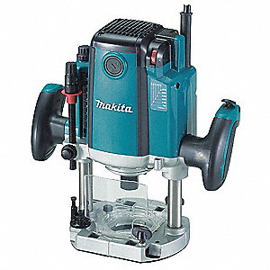 Plunge Router Electric Brake, 3-1/4 HP