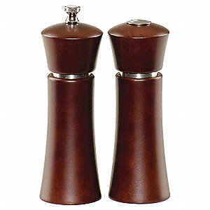 Pepper Mill/Salt Shaker,Wood,Cafe Brown