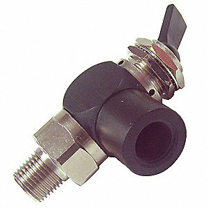 TOGGLE VALVE,3 WAY,NC,1/8 IN,NPT