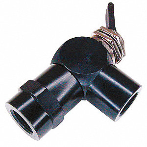 Toggle Valve,NC,1/8 In,FNPT,Plastic