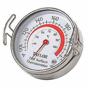 Analog Mechanical Food Service Thermometer with 100° to 700° Temp. Range (F)
