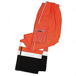 Rain Pants,Class E,Orange,2XL/3XL