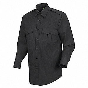 Sentry Plus Shirt, Black, Neck 15 In.