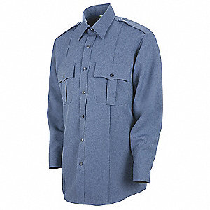 Sentry Plus Shirt, Blue, Neck 17-1/2 In.