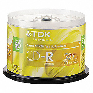 CD-R Disc, 700 MB Capacity, 52x Speed