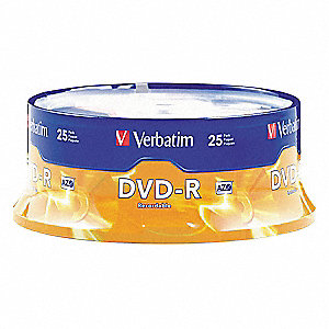 DVD-R Disc, 4.70 GB Capacity, 16x Speed