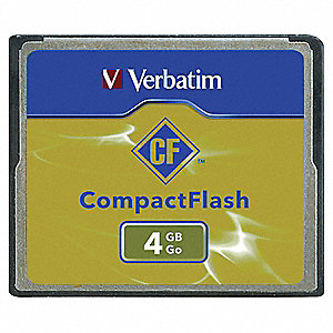 CompactFlash Memory Card,4 GB,