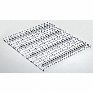 "Steel Wire Decking used with Pallet Rack, 42""D x 46""W, Zinc"