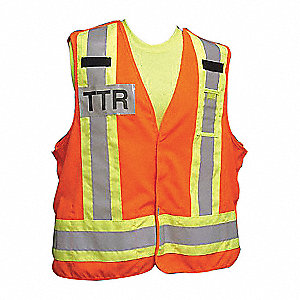 SAFETY VEST ORANGE POLY TTR CSA LG