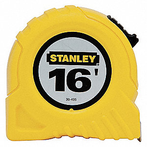 """TAPE MEASURE,3/4""""X16FT,YELLOW,IN/FT"""