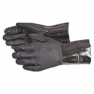 GLOVES PVC FLEECE LINED 12IN
