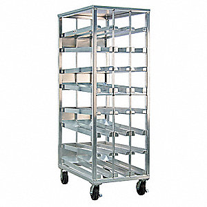"42"" x 81-1/8"" Mobile FIFO Can Rack"