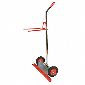 "8-1/2""L x 30-3/16""W x 51-1/2""H Red Bistro Table Mover, 200 lb. Load Capacity"