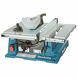 "10"" Contractor Table Saw, 15.0 Amps, Blade Tilt: Left, 5/8"" Arbor Size, 4800 No Load RPM"