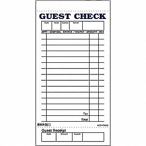 Guest Check Board, 1 Part, Pink, PK50