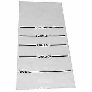 "24"" x 12"" 4.50 mil Nylon Resin Cook Chill Bag, Clear; PK100"