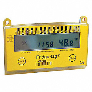 LCD Digital Food Service Thermometer with 35° to 46° Temp. Range (F)
