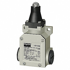 Heavy Duty Limit Switch, 480VAC Voltage Rating, 10 Amps, Top Actuator Location