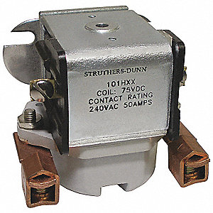 Open Power Relay, 4 Pins, 120VAC Coil Volts, 100A @ 120/240VAC, 100A @ 28VDC Contact Amp Rating (Res