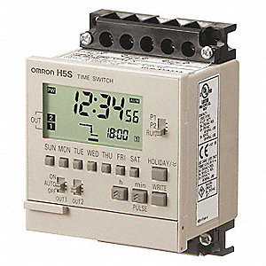 Electronic Timer, 15 Amps, 120 to 240VAC Voltage, Operation Mode: 7 Days, Number of Channels: 2