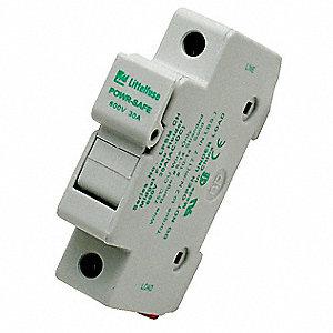 littelfuse 1-pole solar finger safe fuse block, ac: 600vac, dc: 600vdc, 0  to 30a, series midget - 14h376|lpsm001 - grainger