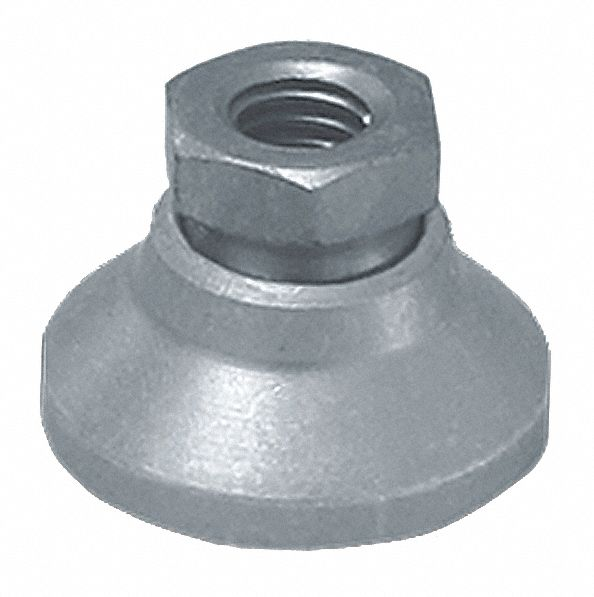 32mm Dia Standard Metric Leveling Mount M10 x 1.5 Thread Steel x 22mm H 1700 Kg Capacity Pack Of 2