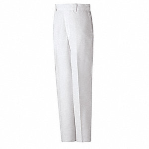 "Men's Specialized Pants, 65% Polyester/35% Cotton, Color: White, Fits Waist Size: 36"" x 34"""