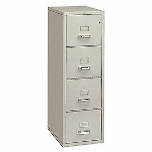 Fire-Resistant Vertical File,Light Gray