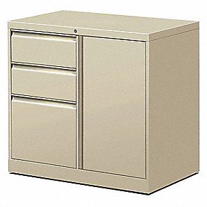 hon file center with enclosed bookcase,putty - 14h624|hfc1830bdr