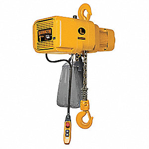 H4 Electric Chain Hoist, 2000 lb. Load Capacity, 230V, 20 ft. Hoist Lift, 28/4.5 fpm